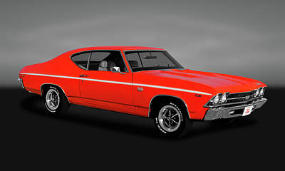 Photograph - 1969 Chevrolet Chevelle Ss-396  -  1969sschevellegry170323 by Frank J Benz