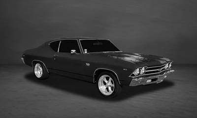 Photograph - 1969 Chevrolet Chevelle Ss-396 L78  -  Bw44 by Frank J Benz