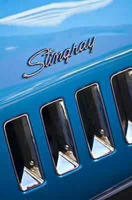 1969 Chevrolet Corvette Stingray Emblem Print by Jill Reger