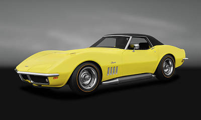 Photograph - 1969 Chevrolet Corvette Stingray L71 427  -  1969chevycorvette427cvgry183691 by Frank J Benz