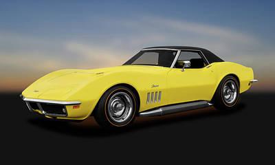 Photograph - 1969 Chevrolet Corvette Stingray L71 427 Convertible  -  1969corvette427stingraycv183691 by Frank J Benz