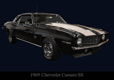 Digital Art - 1969 Chevy Camaro Ss by Chris Flees