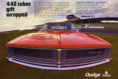 Motown Digital Art - 1969 Dodge Charger R/t - 440 Cubes Gift Wrapped by Digital Repro Depot