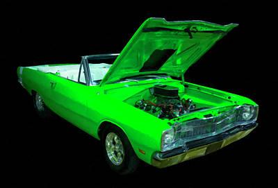 Classic Car Oil Painting - 1969 Dodge Dart Gt Convertible Digital Oil by Chris Flees