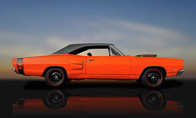 Photograph - 1969 Dodge Super Bee 440  -  1969dodgesuperbee440reflect140069 by Frank J Benz