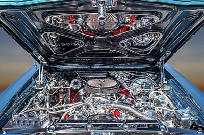 Photograph - 1969 El Camino Ss - El Chromeo Engine Detail  -  1969elcaminochromeengine173384 by Frank J Benz