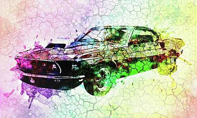 Asphalt Digital Art - 1969 Ford Mustang Boss 429 by Galambosi Tamas