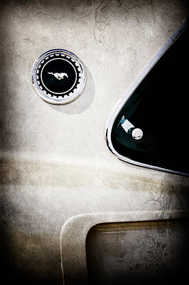 Mach I Photograph - 1969 Ford Mustang Mach I Side Emblem -0456ac by Jill Reger