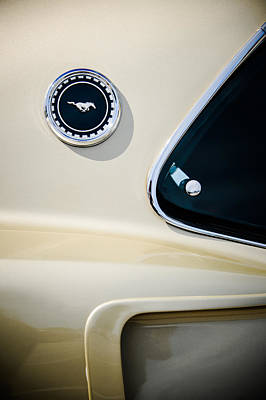 Photograph - 1969 Ford Mustang Mach I Side Emblem -0456c by Jill Reger