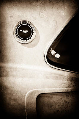 1969 Photograph - 1969 Ford Mustang Mach I Side Emblem -0456s by Jill Reger