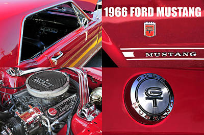 Photograph - 1966 Ford Mustng by David Lee Thompson
