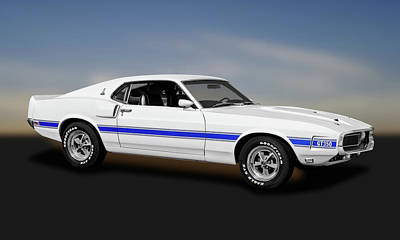 Photograph - 1969 Ford Shelby Cobra Mustang Gt-350   -  1969shelbygtmustang173643 by Frank J Benz