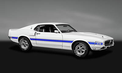Photograph - 1969 Ford Shelby Cobra Mustang Gt-350   -  1969shelbymustanggry173643 by Frank J Benz