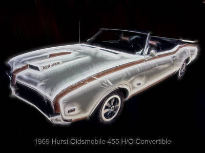 Digital Art - 1969 Hurst Oldsmobile 455 Ho Electric by Chris Flees