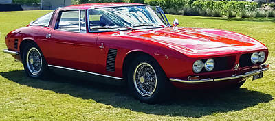 Photograph - 1969 Iso Grifo, Quarter by E Karl Braun