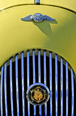 1969 Photograph - 1969 Morgan Roadster Grille Emblems by Jill Reger