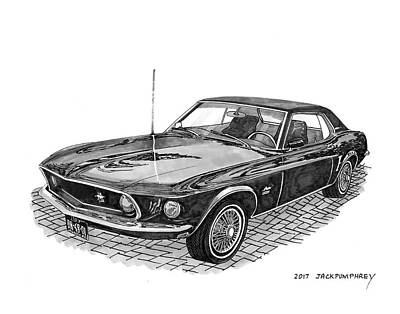 Painting - 1969 Mustang by Jack Pumphrey