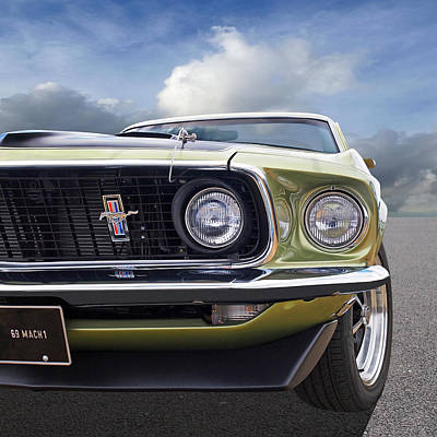 Photograph - 1969 Mustang Mach 1  by Gill Billington