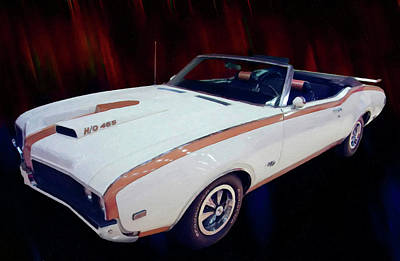 Painting - 1969 Oldsmobile Hurst 455 Convertible Digital Oil by Chris Flees