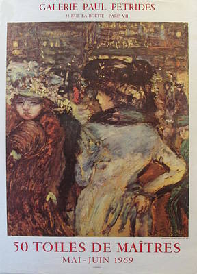 1969 Original Exhibition Poster, 50 Toiles De Maitres - Pierre Bonnard Original by Pierre Bonnard