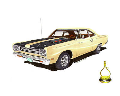 Painting - 1969 Plymouth Road Runner 383 by Jack Pumphrey