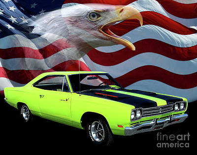 1969 Photograph - 1969 Plymouth Road Runner Tribute by Peter Piatt