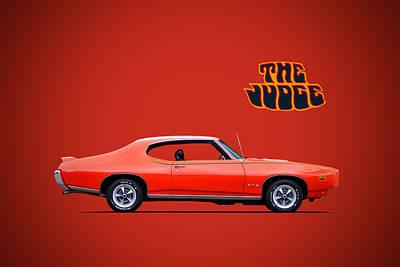 Digital Art - 1969 Pontiac Gto Judge by Roger Lighterness