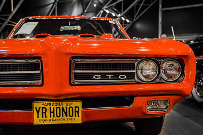 Barrett Jackson Wall Art - Photograph - 1969 Pontiac Gto Judge Yr Honor by Alan Marlowe