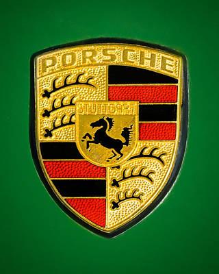 1969 Photograph - 1969 Porsche 911 Targa Emblem - 1 by Jill Reger