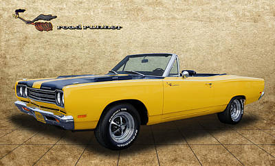 Photograph - 1969 Road Runner Convertible By Plymouth by Frank J Benz