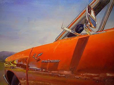 Roadrunner Painting - 1969 Roadrunner by Jody Swope