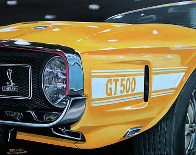 1969 Shelby Gt500 Art Print by Branden Hochstetler