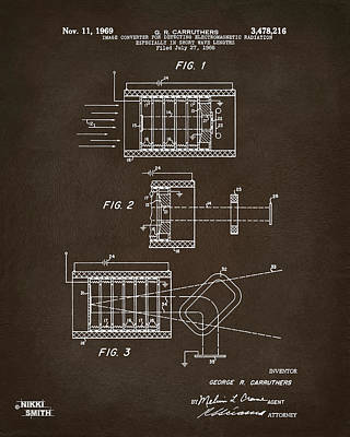 Digital Art - 1969 Short Wave Electromagnetic Radiation Patent Espresso by Nikki Marie Smith