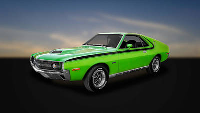 Photograph - 1970 Amc Amx 390 Cubic Inch 4-speed  -  70amcamx1 by Frank J Benz