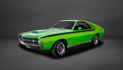 1970 Amc Amx 390 Cubic Inch 4-speed  -  70amcamx3 Art Print