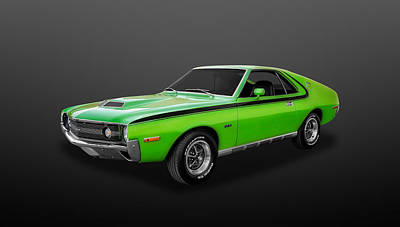 Photograph - 1970 Amc Amx 390 Cubic Inch 4-speed  -  70amxamc2 by Frank J Benz