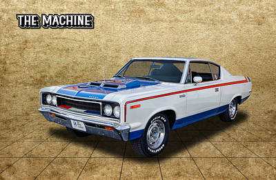 Photograph - 1970 Amc Rebel The Machine by Frank J Benz