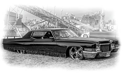Photograph - 1970 Cadillac Deville 2 Vignette Bw by Steve Harrington