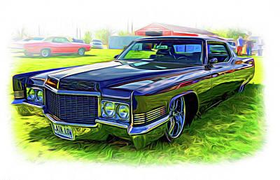 General Motors Digital Art - 1970 Cadillac Deville - Vignette Paint by Steve Harrington