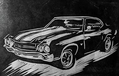 1970 Chevelle Art Print by Alisha Floy