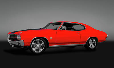 Photograph - 1970 Chevelle Ss 454 Hardtop  -  1970chevelless454gry149513 by Frank J Benz