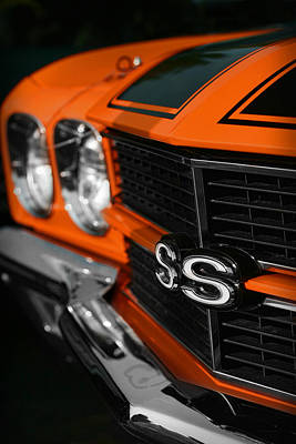 1970 Chevelle Ss396 Ss 396 Orange Original by Gordon Dean II