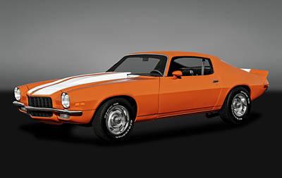 Photograph - 1970 Chevrolet Camaro  -  1970chevroletcamarogry172141 by Frank J Benz