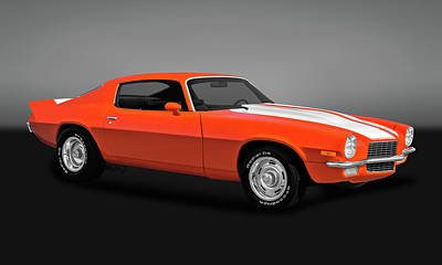 Photograph - 1970 Chevrolet Camaro  -  70chevcamgry0041 by Frank J Benz