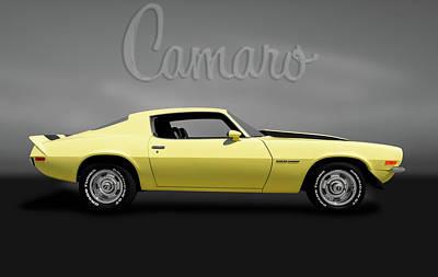Photograph - 1970 Chevrolet Camaro Rally Sport  -  1970camarorallysportlogogry184111 by Frank J Benz