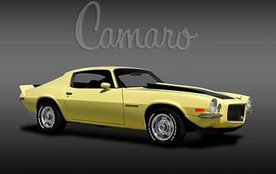 Photograph - 1970 Chevrolet Camaro Rally Sport  -  1970camarorslogofa184104 by Frank J Benz