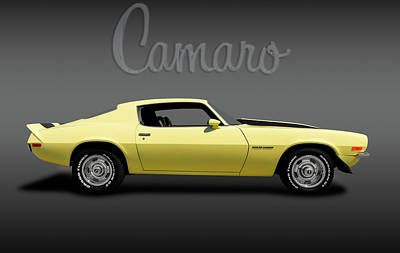 Photograph - 1970 Chevrolet Camaro Rally Sport  -  1970chevycamarologofa184111 by Frank J Benz