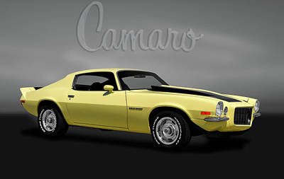 Photograph - 1970 Chevrolet Camaro Rally Sport  -  1970chevycamarologogry184104 by Frank J Benz