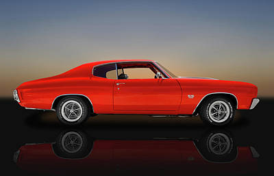 Photograph - 1970 Chevrolet Chevelle Ss 396  -  1970chevellereflect9668 by Frank J Benz