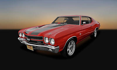 Red Chevrolet Photograph - 1970 Chevrolet Chevelle Ss 454 Ls6   -   1970ls6chevelle2627 by Frank J Benz